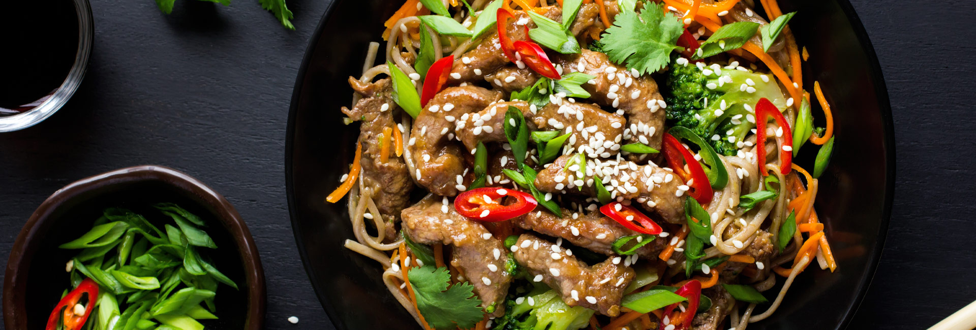 Asian beef and sesame seed salad